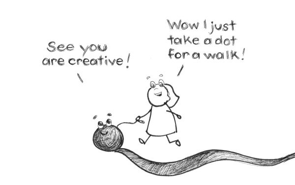 take a dot for a walk exercise for creativity