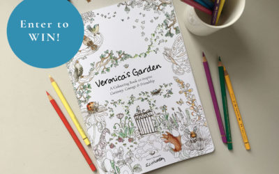 UK CONTEST Alert! Win a FREE copy of my new colouring book Veronica's Garden