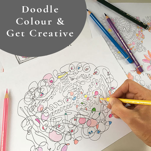 doodle colour and get creative club for adults