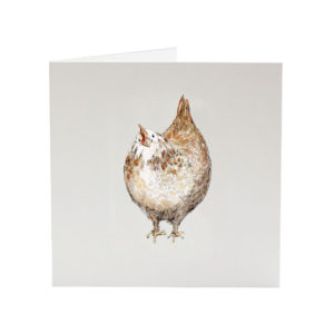 Jenn the Hen greeting card by sarah Jane Vickery