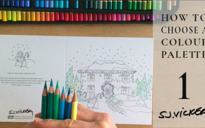 Tutorial 1: How to Creatively choose a Colour Palette from scratch – Colouring a Winter scene in pencil crayon