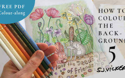 Tutorial 5: How to Colour a Background | FREE PDF Real-Time Colour along | Veronica's Garden