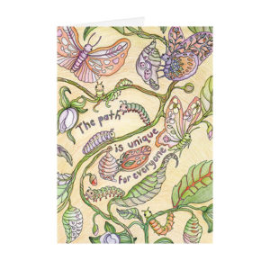 Art of Wellbeing colouring book card by Sarah Jane Vickery