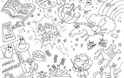 FREE PDF | A Magic 'Room-a-rific' Colouring Page & Creative Thoughts on Transformation