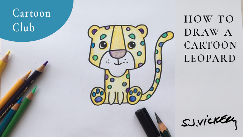 How to draw a cartoon Leopard + the creative concept of REPRESENTATIONAL