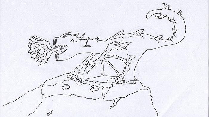 photoshop a cartoon dragon