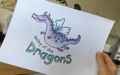 How to make a shy child more Confident – learn to Doodle a cartoon Dragon