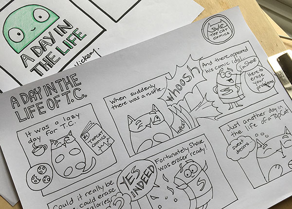 How to draw your own Comic Strip – Learning to think creatively in the modern age of Knowledge