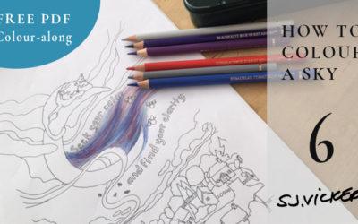 Colouring Tutorial 6 – How to blend a sky using Faber-Castell Polychromos – FREE PDF Veronica's Garden