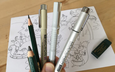 My Top 8 picks for Art supplies for cartooning – What I draw with in Cartoon Club