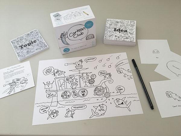 Cartoon Club Drawing Game