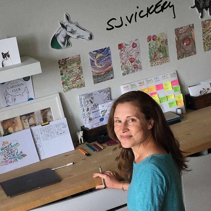 Sarah Jane Vickery Cartoon Club artist